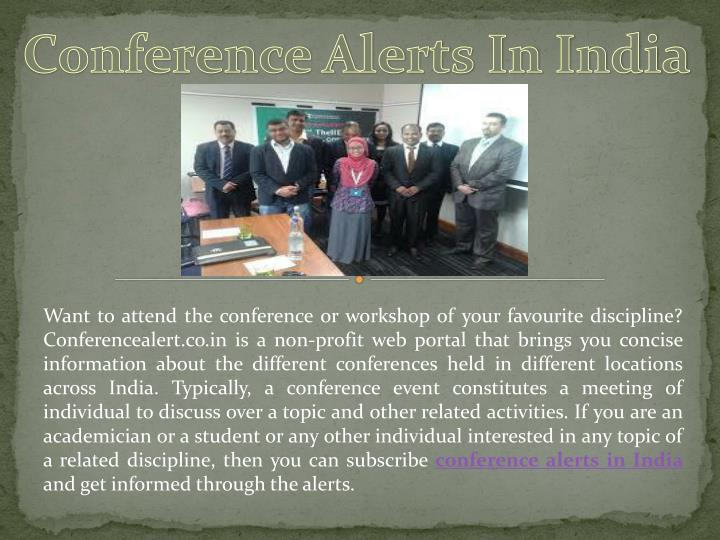 Conference Alerts In