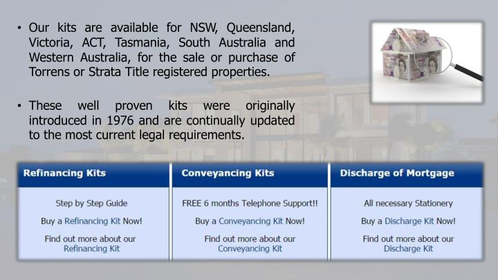 Ppt conveyancing tasmania powerpoint presentation id7301444 our kits are available for nsw queensland victoria act tasmania solutioingenieria Image collections