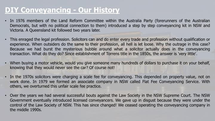 Ppt conveyancing tasmania powerpoint presentation id7301444 diy conveyancing our history solutioingenieria Gallery