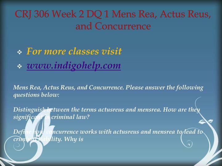 CRJ 306 Week 2 DQ 1