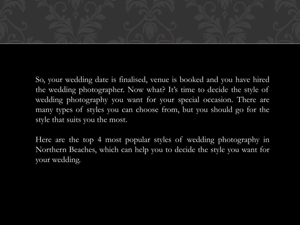 PPT - Getting Married? What Style Of Wedding Photography Would You