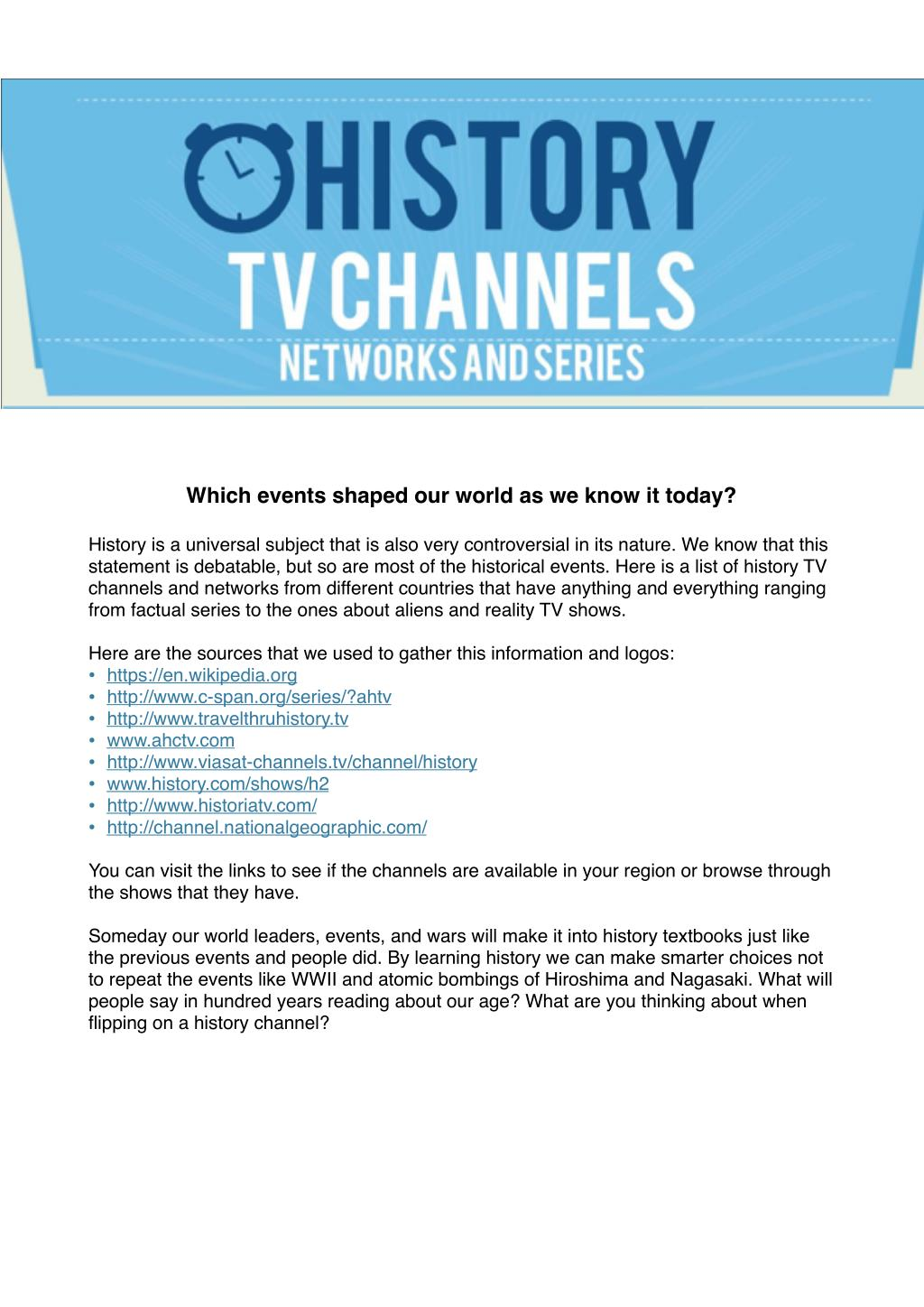 PPT - History Channels, Series, TV Shows by Writers Per Hour