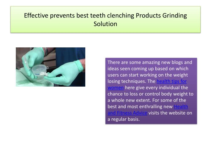 Effective prevents best teeth clenching