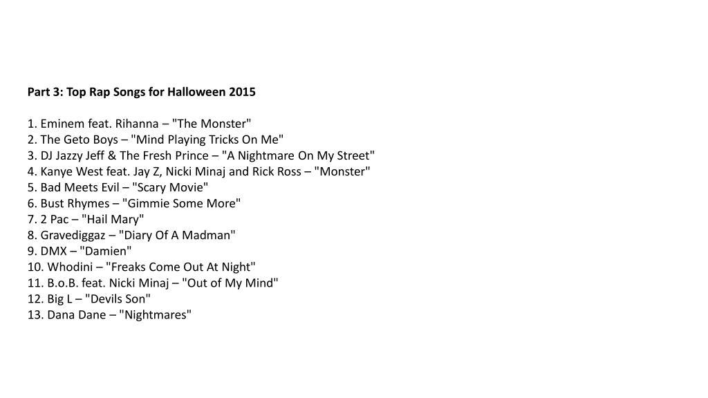 PPT - Best halloween songs for 2015 – download halloween
