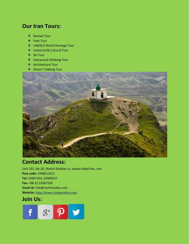 Our Iran Tours: