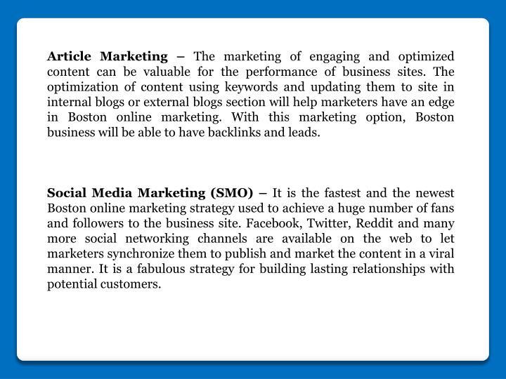 Article Marketing –
