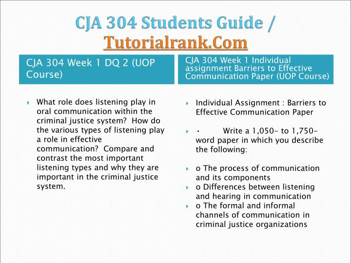 cja304 effective communication in criminal justice