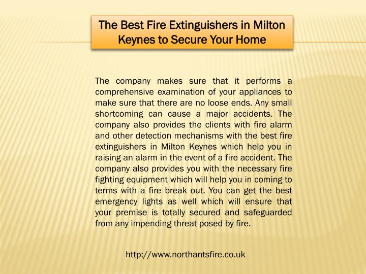 The Best Fire Extinguishers in Milton Keynes to Secure Your Home