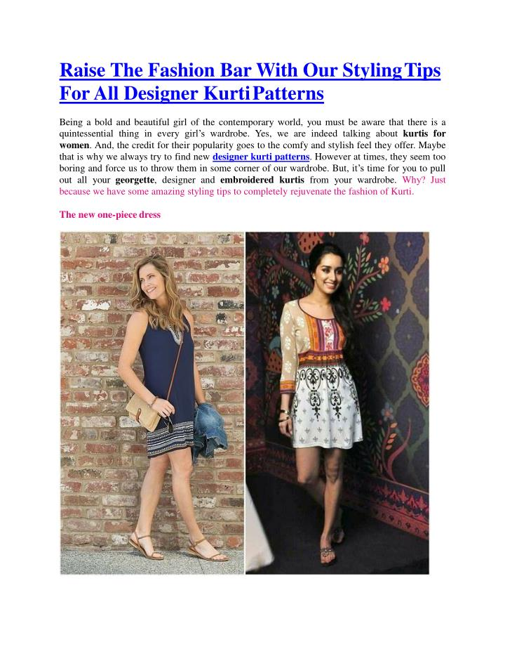 Ppt Raise The Fashion Bar With Our Styling Tips For All