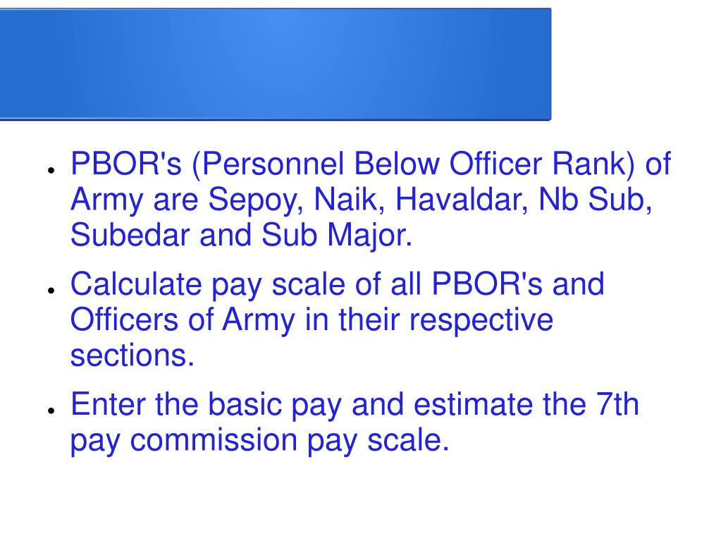 PPT - 7th Pay Commission for Army Officers PowerPoint Presentation