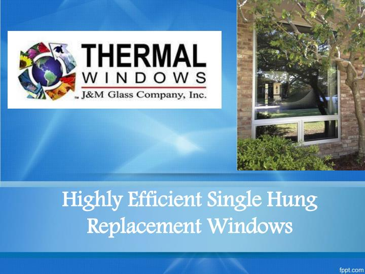 highly efficient single hung replacement windows n.