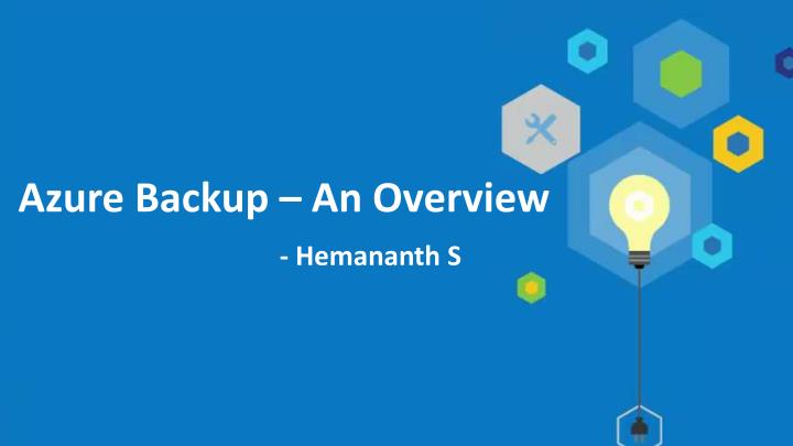 azure backup an overview n.