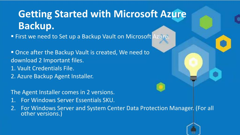 PPT - Microsoft Azure Backup - An Overview PowerPoint
