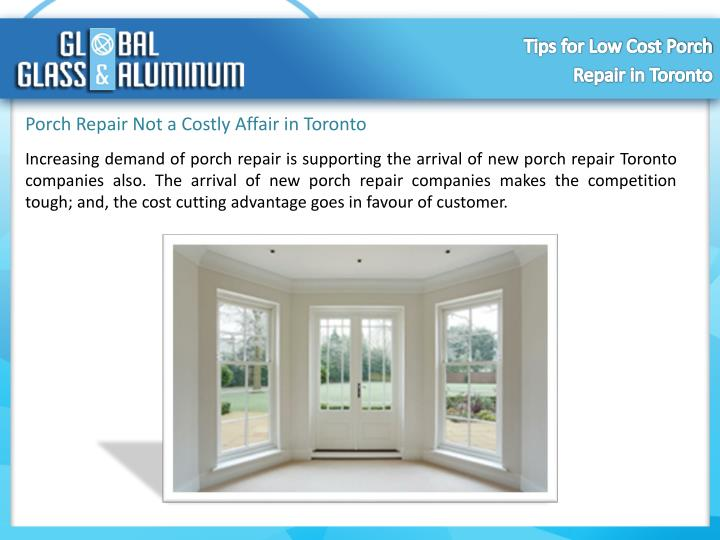 Porch Repair Not a Costly Affair in Toronto