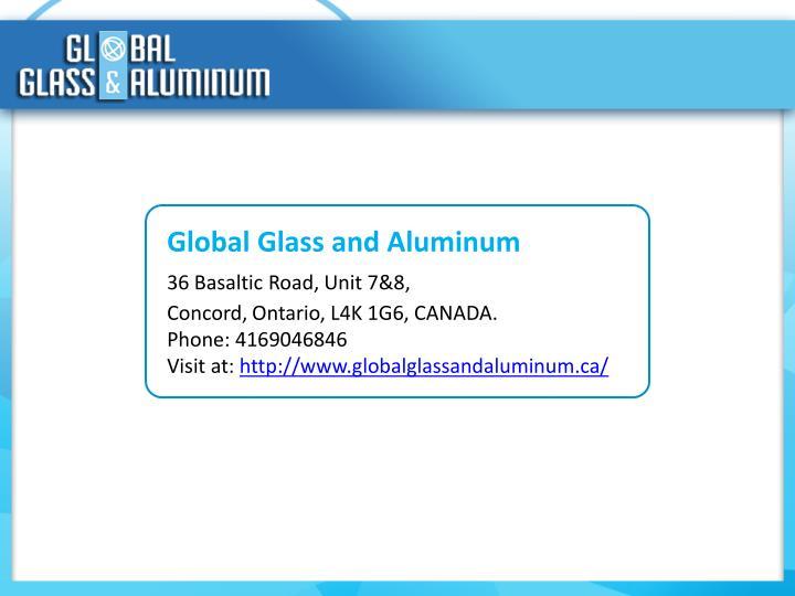 Global Glass and Aluminum