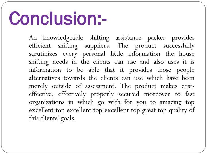 Conclusion:-