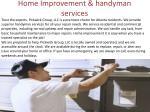 home improvement handyman services