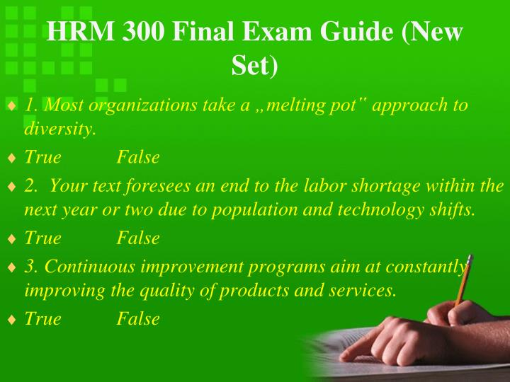 Hrm 300 final exam guide new set