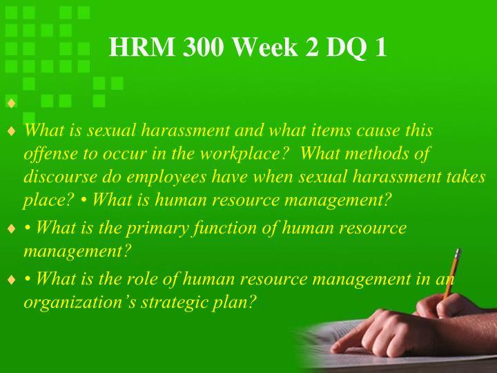 HRM 300 Week 2 DQ 1
