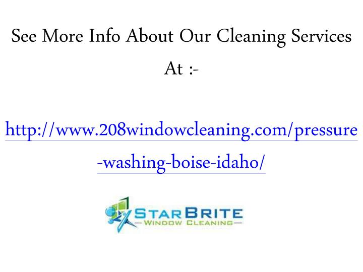 See More Info About Our Cleaning Services At :-