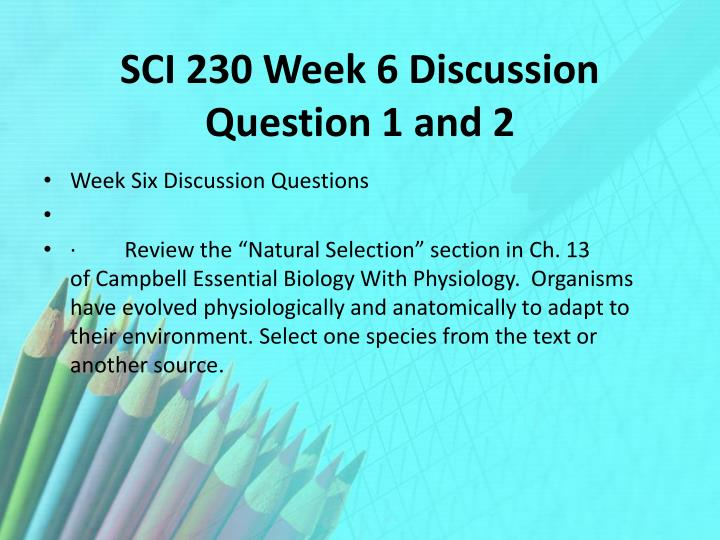 sci 230 week 3 cell reproduction presentation Tutorials for question #00101608 categorized under biology and general biology.