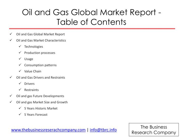 Oil and Gas Global Market Report