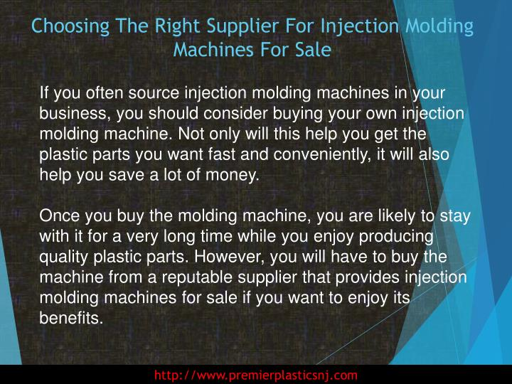 Choosing the right supplier for injection molding machines for sale1