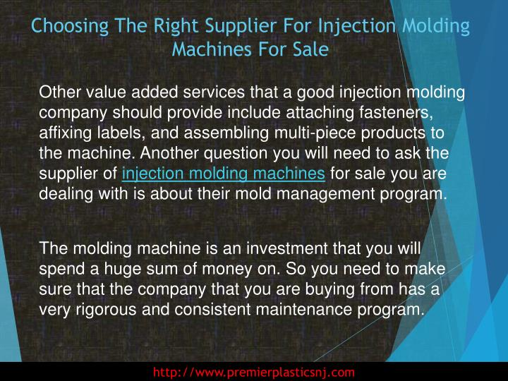 Choosing The Right Supplier For Injection Molding Machines For Sale