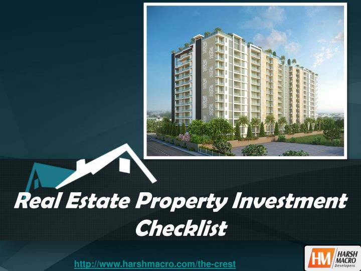 real estate property investment checklist n.
