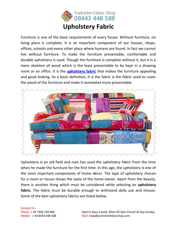 Ppt Upholstery Fabrics Powerpoint Presentation Free Download Id 7305154