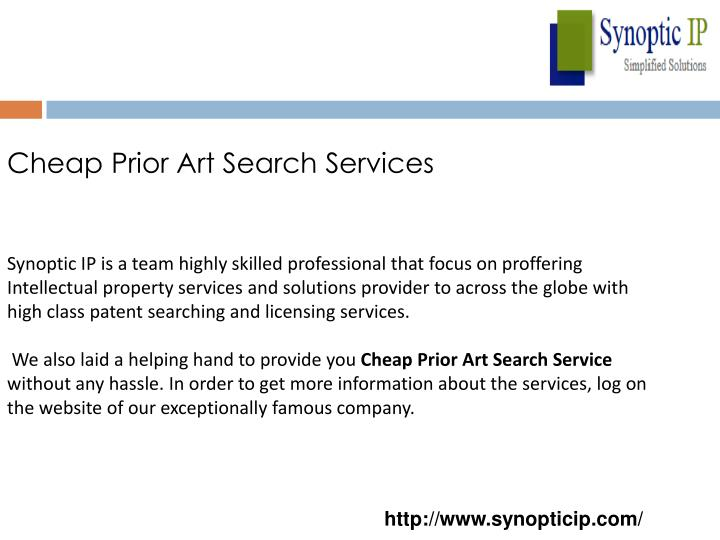 Cheap Prior Art Search Services