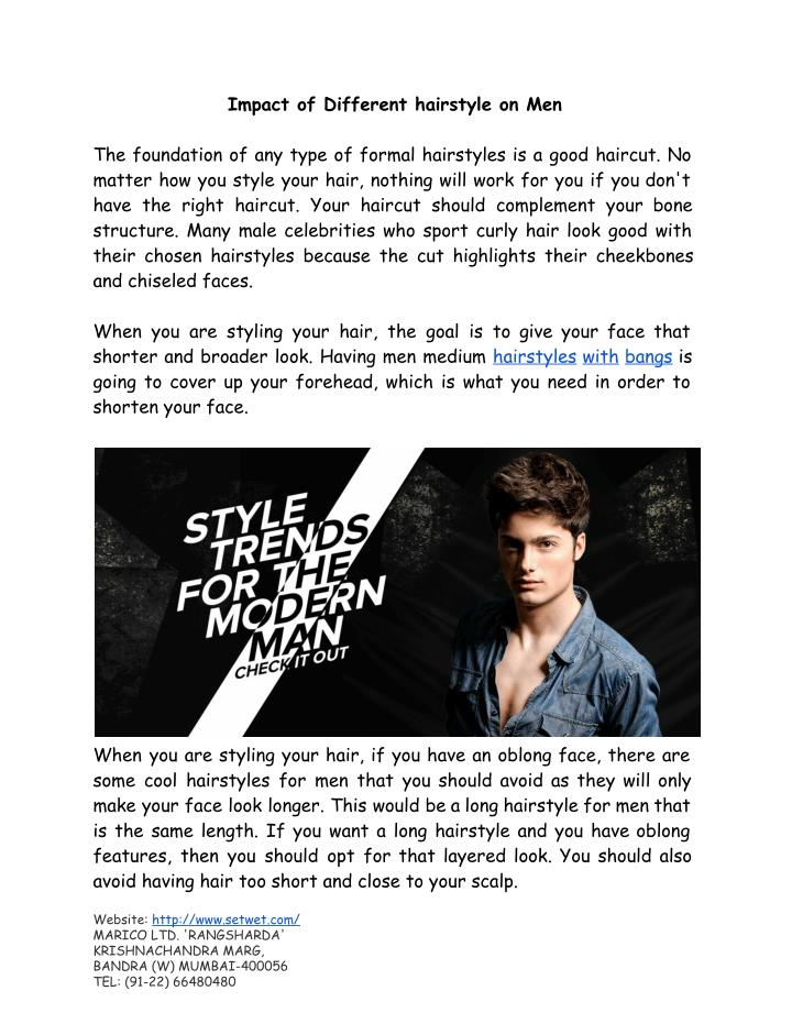 Ppt Impact Of Different Hairstyle On Men Powerpoint Presentation