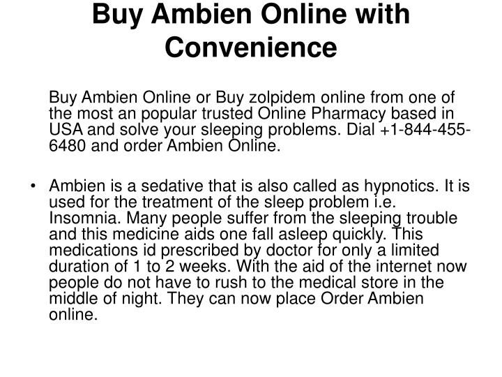 Buy ambien online with convenience