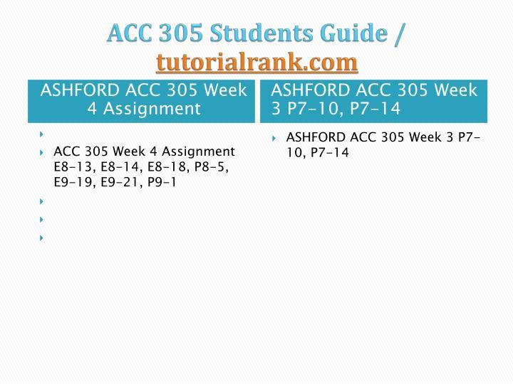 acc 305 week 3 p7 14 page