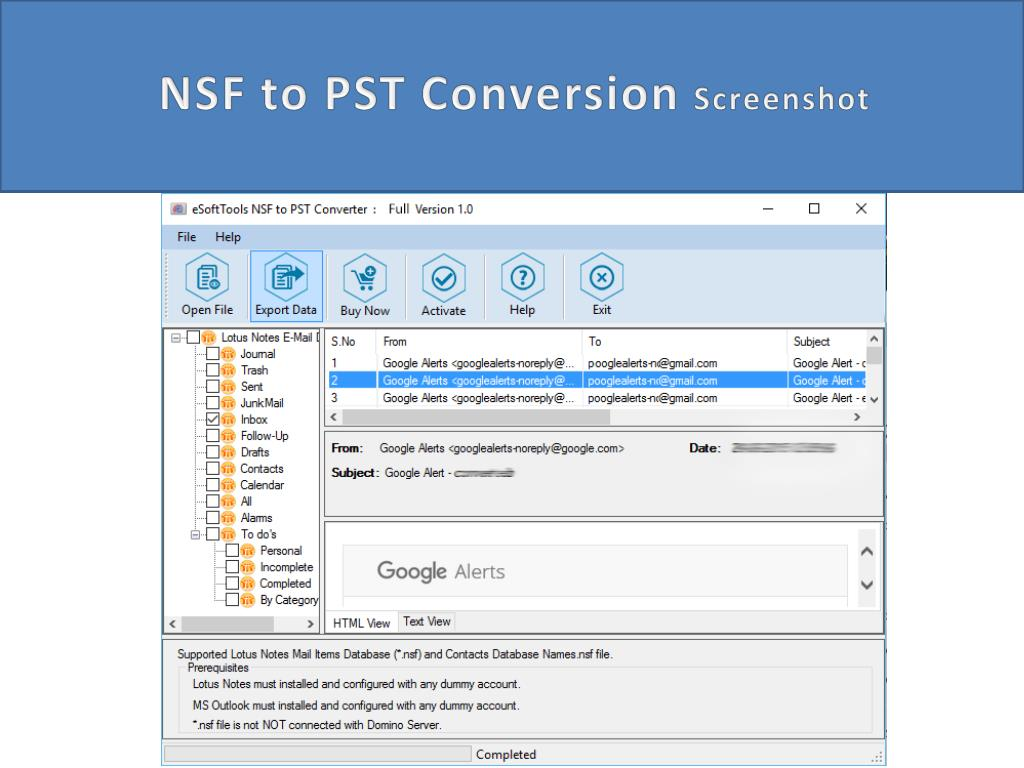 PPT - NSF to PST Converter PowerPoint Presentation - ID:7306499
