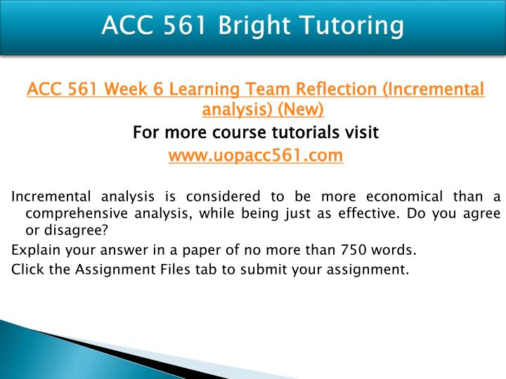 acc 561 Read acc 561 week 5 assignment wileyplus from the story acc 561 complete class by buttler with 176 reads acc561week2, acc561week3, acc561free acc 561 week.