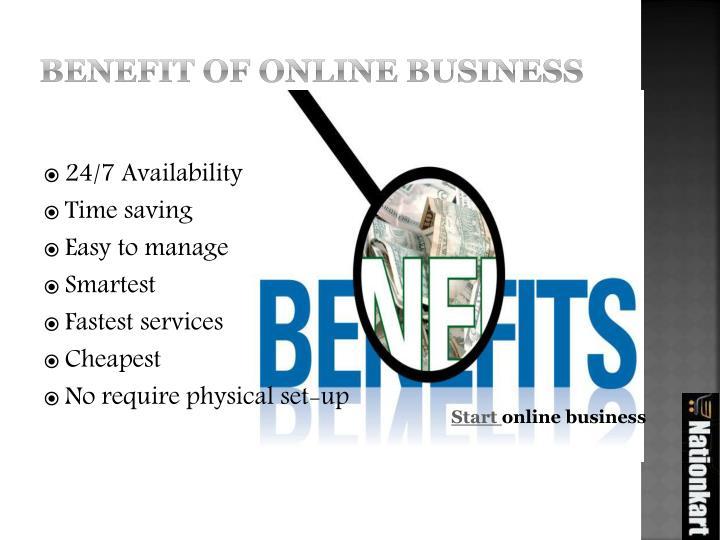 Benefit of online business