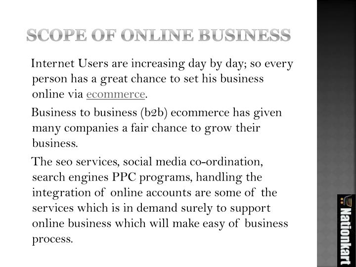 Scope of online business