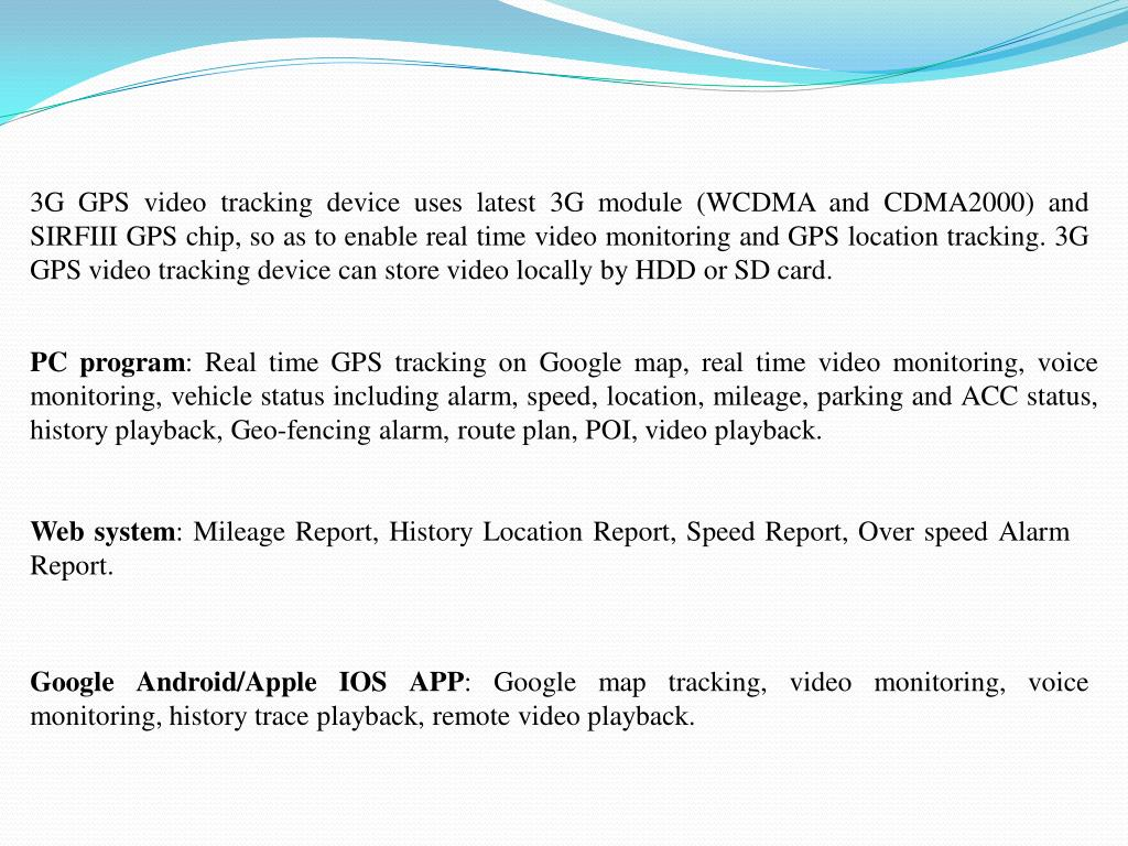 PPT - 3G GPS Video Tracking System PowerPoint Presentation