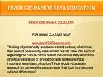 psych 525 papers real education15