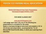 psych 525 papers real education18