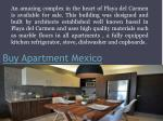 buy apartment mexico