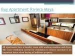 buy apartment riviera maya