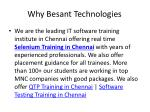 why besant technologies