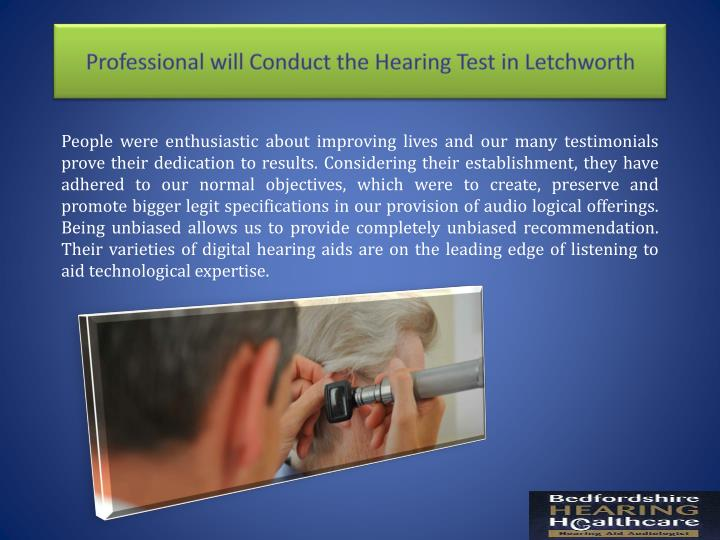 Professional will conduct the hearing test in letchworth1