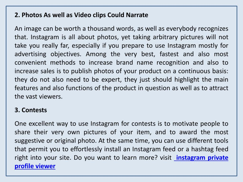 PPT - Instagram Private Profile Viewer PowerPoint