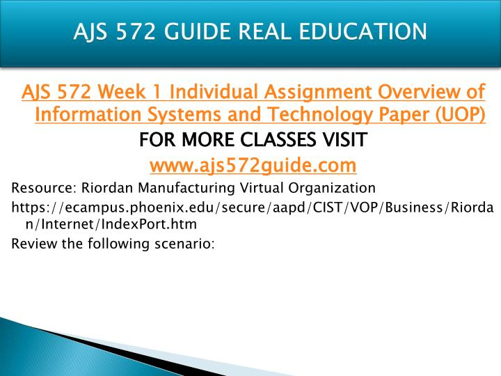 Ajs 572 guide real education1