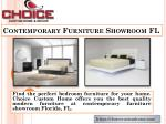 contemporary furniture showroom fl