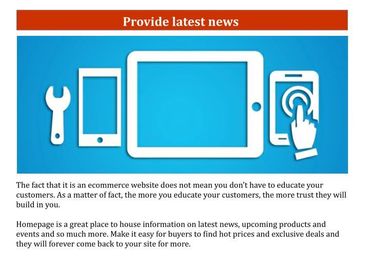 Provide latest news
