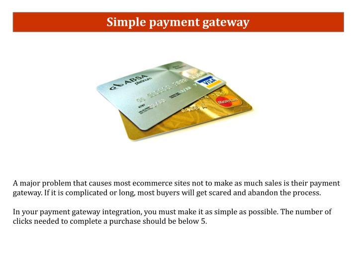 Simple payment gateway